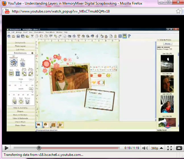 Using Layers in MemoryMixer 3 digital scrapbooking software