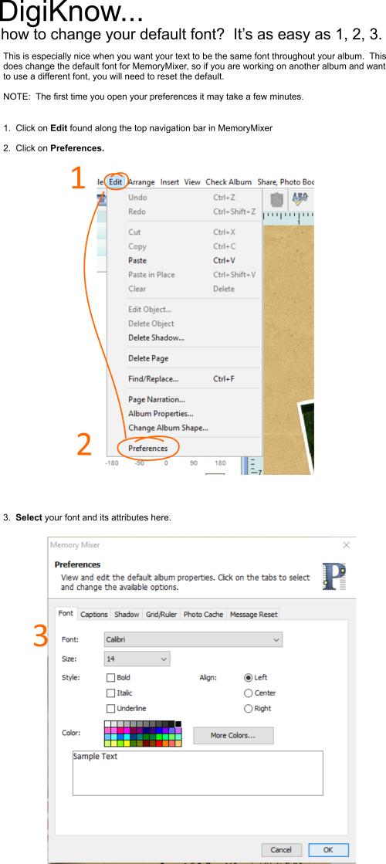 Font Prefereces